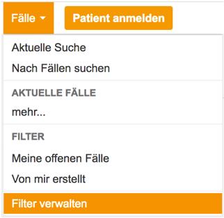 Filter verwalten